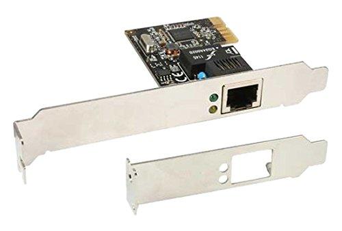 Inline 13746 Scheda di Rete 10-100-1000 MBps Gigabit Ethernet, Staffa Low Profile Inclusa, Nero