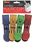 Jumbo plastic clips - Pack of 72