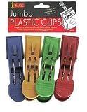 Jumbo plastic clips - Pack of 72
