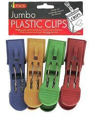 Jumbo plastic clips - Pack of 72 by bulk buys