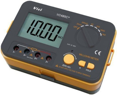 Vici Vc480c  3 1 2 Accuracy   4 Wire Test Multimeter Digital Milli Ohm Meter