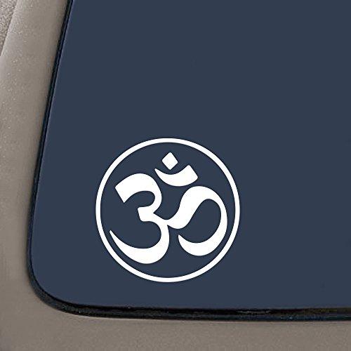 NI178 AUM yoga om symbol circle vinyl