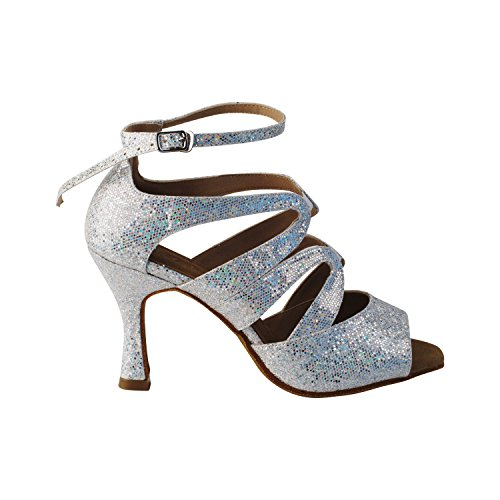 Wedding Clubing Silver Salsa Scale Collection Ballroom Dance 7039 of Dress I Shoes Shades 50 Silver PvzZZq