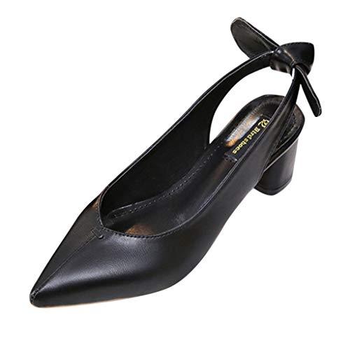 Women Sandals, ❤️ FAPIZI Pointed Toe Slingback Shoes Mid Heels Party Wedding Prom Dress Pumps Court Shoes Sandals Black