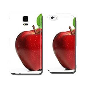 Red apple fruit with leaf cell phone cover case iPhone5