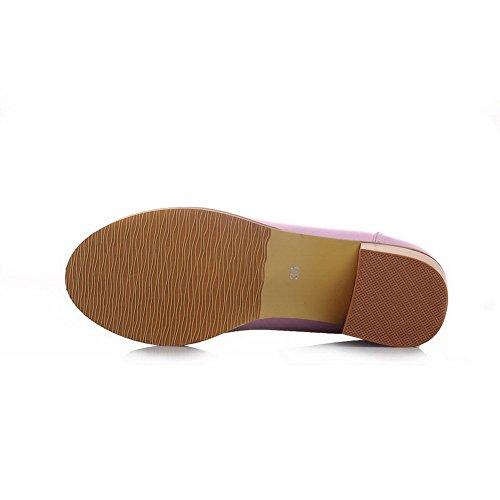 BalaMasa da donna quadrato tacchi slip-on morbido materiale pumps-shoes, Viola (Purple), 35