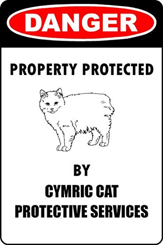 in the Ivy Funny Cymric Cat Parking Only Decorative Metal Signs 8 x 12 Tin Art Wall Decor Aluminum Sign for Home