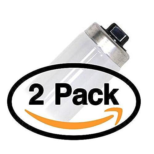 (2 Pack) Sylvania 25122 F48T12/CW/HO/ECO 60 Watt T12 Fluorescent Tube Light Bulb 60W - F48T12 - Cool White 4200K Replaces F48T12/CW/HO F48T12/CW/HO/Alto