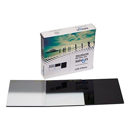 Lee Filters Seven5 Seascape Neutral Density Filter Set, Includes Seven5 0.3 Hard-Edge ND Filter, Seven5 0.9 Hard-Edge ND Filter, Seven5 Big Stopper 3.0 ND Filter by Lee Filters
