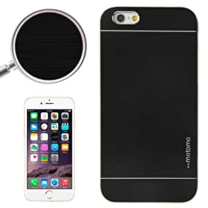 2 in 1 Brushed Texture Metal & Plastic Protective Case for iPhone 6(Black)