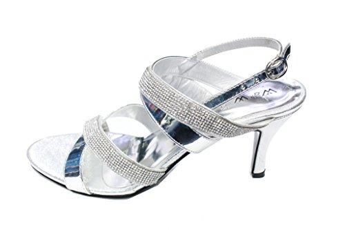 femme Sandales Argent Wear pour amp; Walk UK argent wqttOxFBXH
