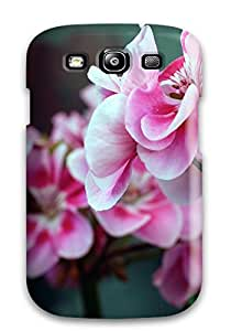 Hot Fashion ODNfkzm3356xhOfw Design Case Cover For Galaxy S3 Protective Case (pink Red Flowers)