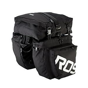 Roswheel 14892 3 in 1 Multifunction Bike Bicycle Rear Rack Panniers Back Seat Cargo Trunk - Black