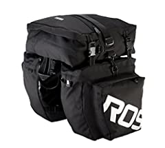 Roswheel 3 in 1 multifunction rack panniers is a good choice for commuting,     camping, long journey riding, in town shopping or everyday school.       Features:        1. The bag is made of water resistant canvas material, solid and durable.  ...
