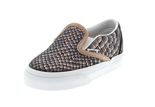 Vans Toddler's Classic Slip-On (Metallic Snake) Rose Gold/True White First Walkers Shoes (10 M US (Vans Slip Ons Girls)
