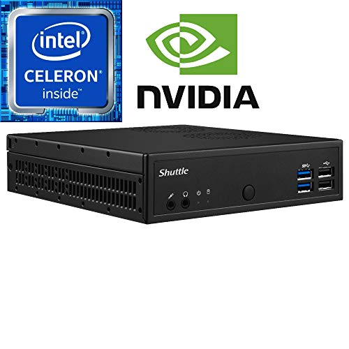 Shuttle DH02U Celeron Slim System, 32GB Dual Channel DDR4, 120GB M.2 SSD, Pre-Assembled and Tested by - Cache M Memory Celeron
