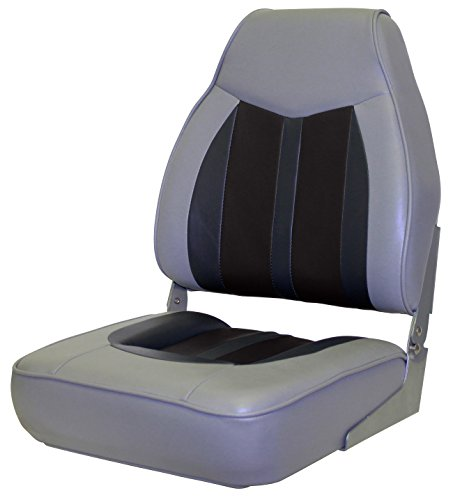 Wise 3302-855 Sportsman 2 Premium Mid Back Boat Seat, Cuddy Marble/Black/Charcoal
