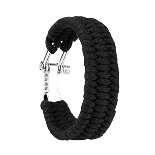 GBSELL Steel Shackle Buckle Survival Rope Bracelet Outdoor Camping Hiking (Purpose Clothesline)