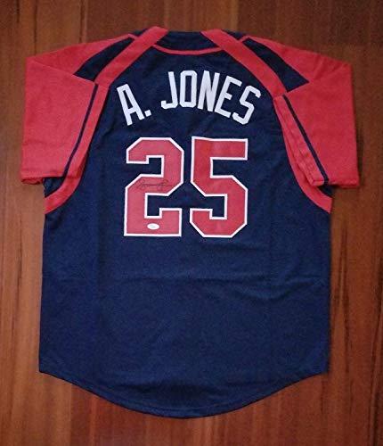 Andruw Jones Autographed Signed Jersey Atlanta Braves Memorabilia JSA