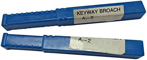 GENERICS LSB-Werkzeuge, 2 Teile/Paket 2mm 3mm Keilnut Broach Metrische Größe Keilnut Schneidwerkzeug Messer for CNC Router Metallbearbeitung