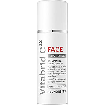 Vitabrid C12 Vitamin C face brightening powder - 12hours Transdermal, the Best professional Vitamin C complex and LDH help brighten and minimize fine lines/wrinkles through collagen synthesis