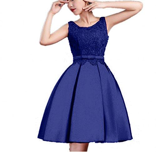 Linie Spitze Kurzes mia Royal Mini La Abendkleider Abschlussballkleider Brau Promkleider Rock Satin Blau A Cocktailkleider xqvIIw