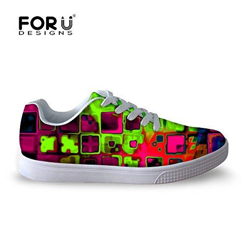 Per Te Disegni Casual Mens Graffiti Malow Top Comode Scarpe Da Skateboard Stringate Sneaker Multi 3