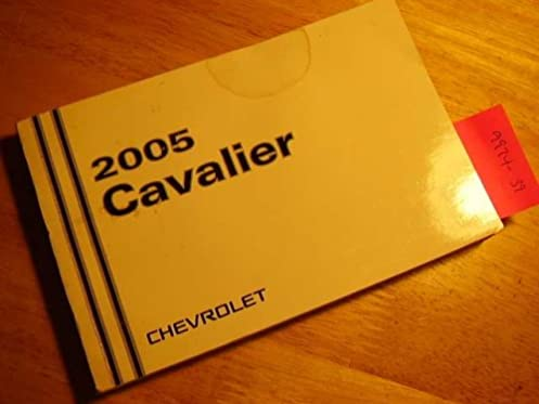 2005 chevy chevrolet cavalier owners manual chevrolet amazon com rh amazon com 2004 Chevrolet Cavalier Manual 2005 cavalier service manual