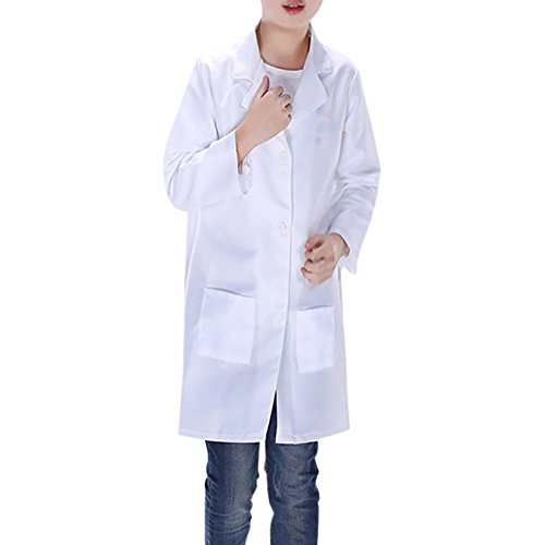 TopTie Childrens White Lab Coat Kids Doctor Role Play Costume-White-4