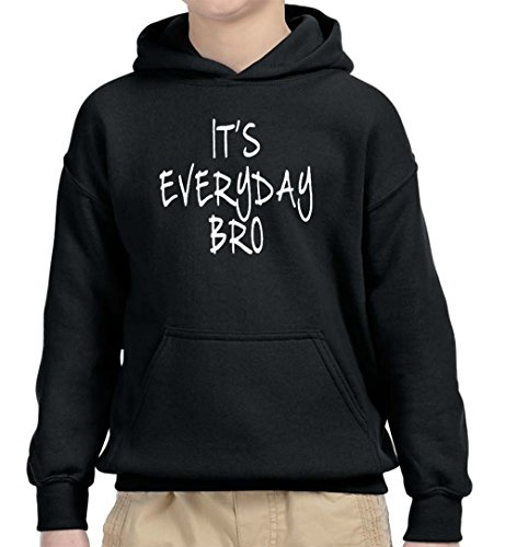 New Way 764 - Youth Hoodie It's Everyday Bro Jake Paul Team 10 Unisex Pullover Sweatshirt Medium Black