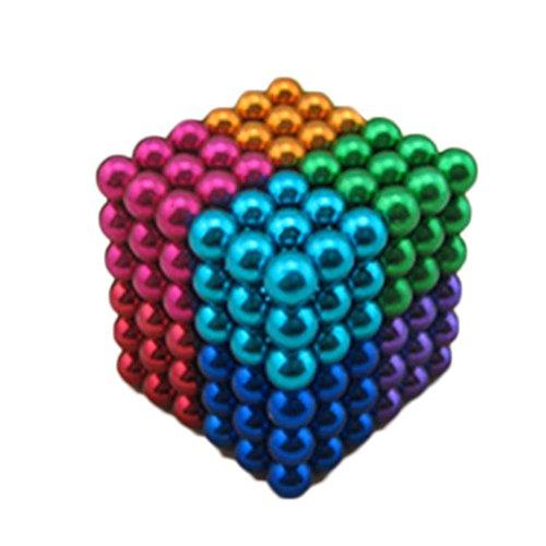 Valerty 216 PCS 5mm Magnetic Sculpture DIY Ball Toys For Children Intelligence Development (Multi-color1)