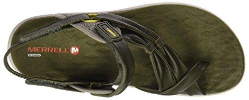 Merrell Women's Vesper Convertible Heels Sandals Green (Dusty Olive) QeGi5PSI