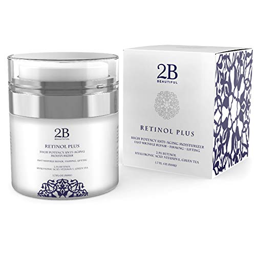 Anti-Aging Retinol 2.5% Facial Moisturizer Cream for Face, Eye and Neck & FAST RESULTS 1.7oz (Best Skin Care Products That Really Work)