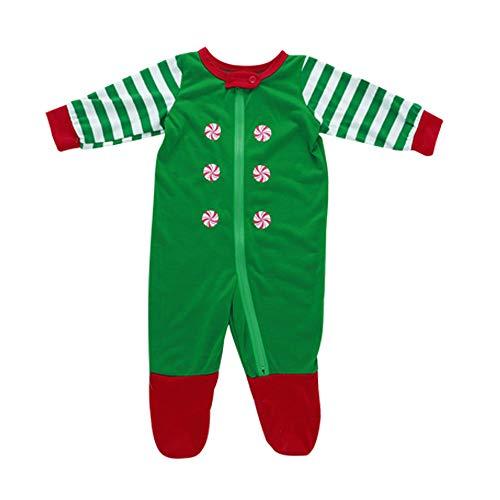 SANFASHION Pajamas Set Family Daddy Mom Kids Sleepwear Pants Striped Long Sleeves Set of Christmas Family Clothing