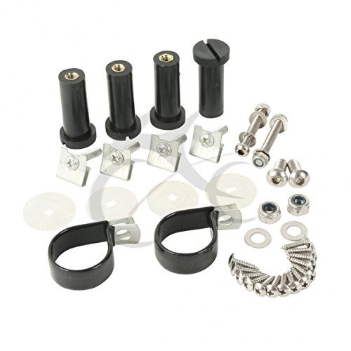 TCMT Lower Vented Fairing Mounting Hardware Screw Clamps Set Fits For Harley Touring 83-13