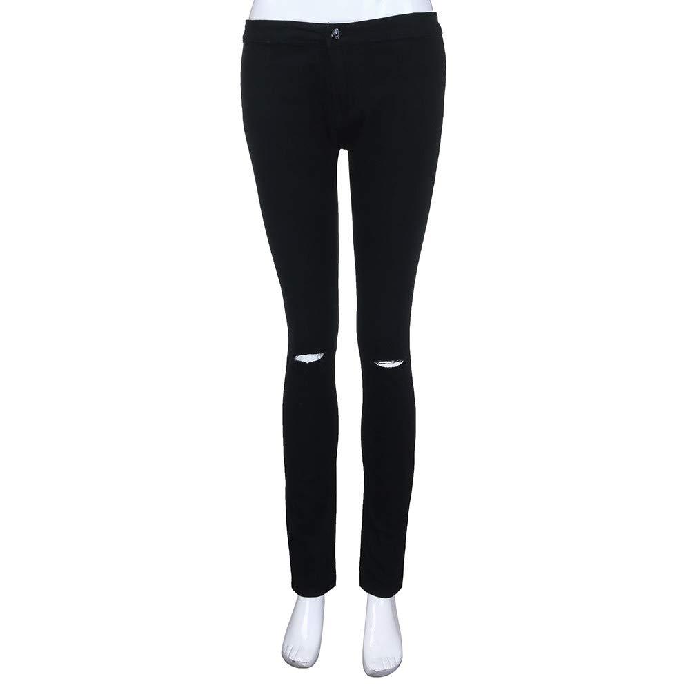 Womens Destroyed Ripped Stretch Denim Butt Lifting Skinny Jeans Denim Womens Juniors Distressed Slim Fit Pants