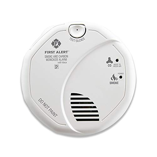 (First Alert Smoke Detector and Carbon Monoxide Detector Alarm | Hardwired with Battery Backup, BRK SC7010B)