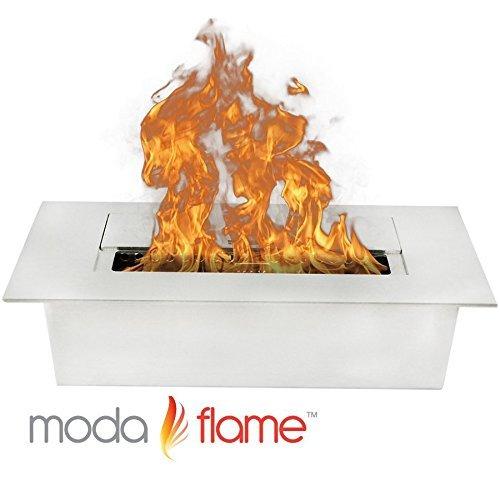 "Moda Boyfriend 12"" Ventless Ethanol Fireplace Burner Insert"