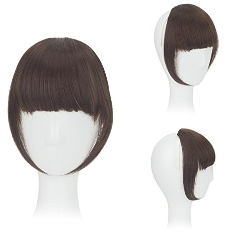 FOCUSSEXY Front Neat Hair Bangs Cosplay Synthetic Heat Resistant Natural Hair Wigs As Real -