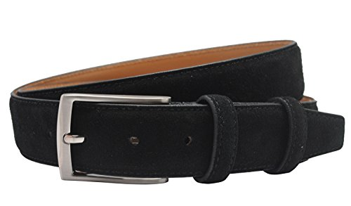 Extra Thickness Suede Leather Belt for Men Casual Jeans /& Dress Belts 34mm Wide