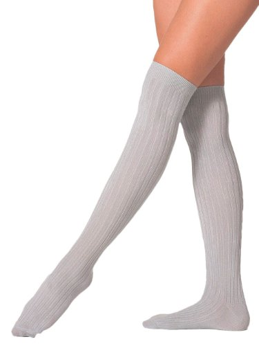 American Apparel Ribbed Modal Over-the-Knee Sock - Medium Grey / One Size