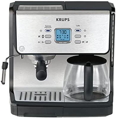 Krups Combi XP2070 - Cafetera (Cafetera combinada, 2200 W, Negro ...