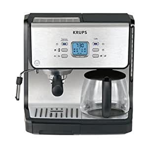 Krups Coffee Maker Xp 5200 : Amazon.com: KRUPS XP2070 Programmable 10-Cup Coffeemaker/15-Bar Pump Espresso Machine: Espresso ...