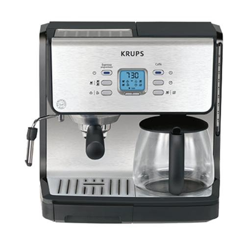 Krups Espresso Pods - KRUPS XP2070 Programmable 10-Cup Coffeemaker/15-Bar Pump Espresso Machine