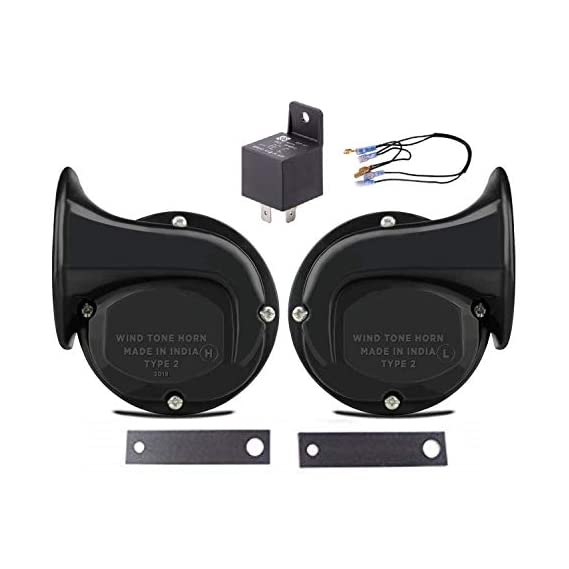 Iron Clutch Skoda Type windtone Horn with Relay(12V)