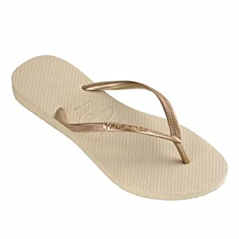 f0690d461 Havaianas Slim Sand Grey Light Golden Flip Flops - UK 8 - BR 41 42 - EU  43 44  Amazon.co.uk  Shoes   Bags