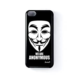Anonymous Black Hard Plastic Case for iPhone 5C by Gangtoyz 2D + FREE Crystal Clear Screen Protector