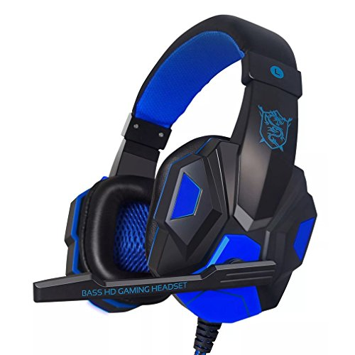 Price comparison product image Gaming Headset 3.5mm Stereo Game Over-Ear Headphone Headset Headband with Mic for PC Computer Game