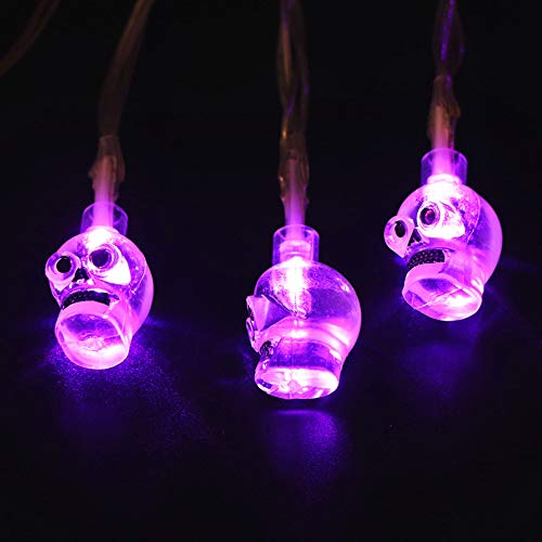 Coohole Halloween Transparent Gimmick Led Holiday Lights Horror