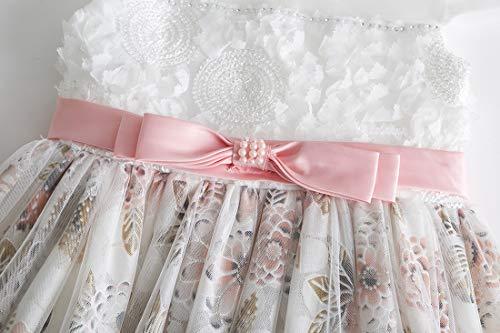 Bianco Bambina In Elegante Ragazza Abiti Pizzo Compleanno Cielarko Vestiti Carnevale Per Fiori Estate Rosa Principessa Vestito tw6pAqd